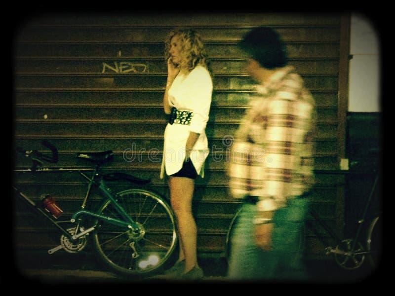 Natt ut arkivbild