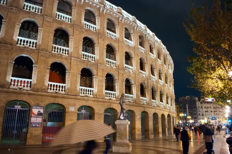 Natt Valencia arkivfoto
