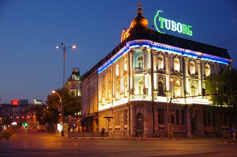 Natt Varna, Bulgarien royaltyfri fotografi
