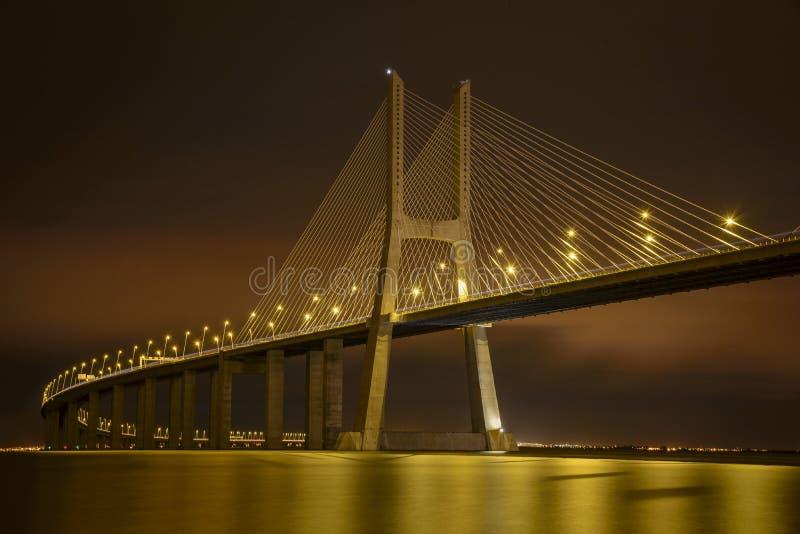 natt vasco för broda-gama arkivfoto