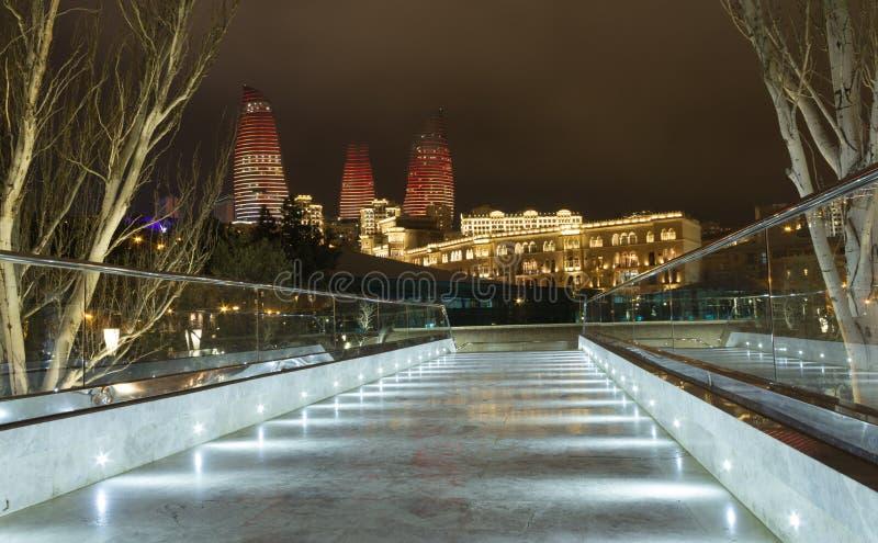 Nattbro fotografering för bildbyråer