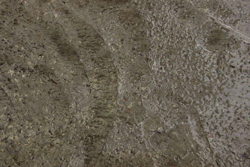 Natte cementtextuur voor achtergrond Natte concrete vloer royalty-vrije stock afbeeldingen