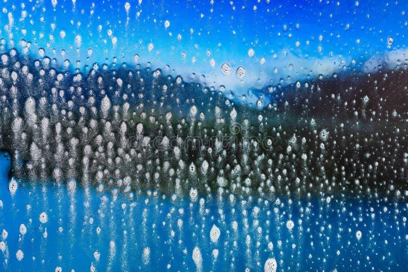 Natte de doucheachtergrond van de waterplons royalty-vrije illustratie
