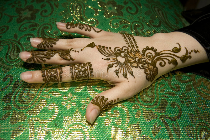 Natte henna op hand royalty-vrije stock fotografie