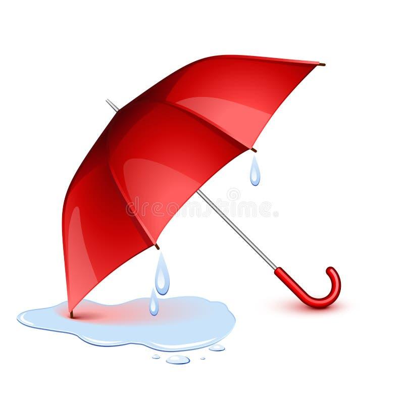 Natte paraplu royalty-vrije illustratie