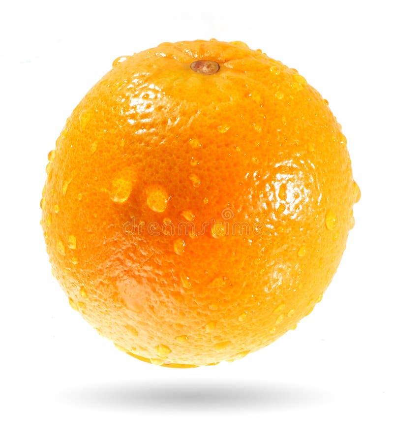 Natte sinaasappel stock afbeeldingen
