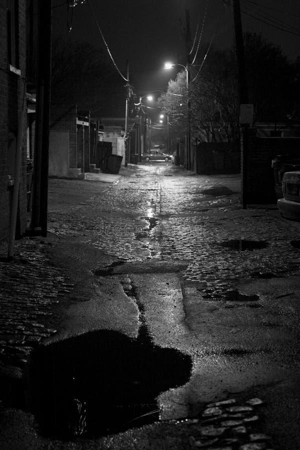 Natte steeg stock fotografie