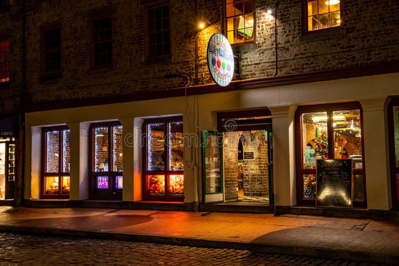 Natte Willies, een bar, een feestje, een instelling op River Street stock fotografie