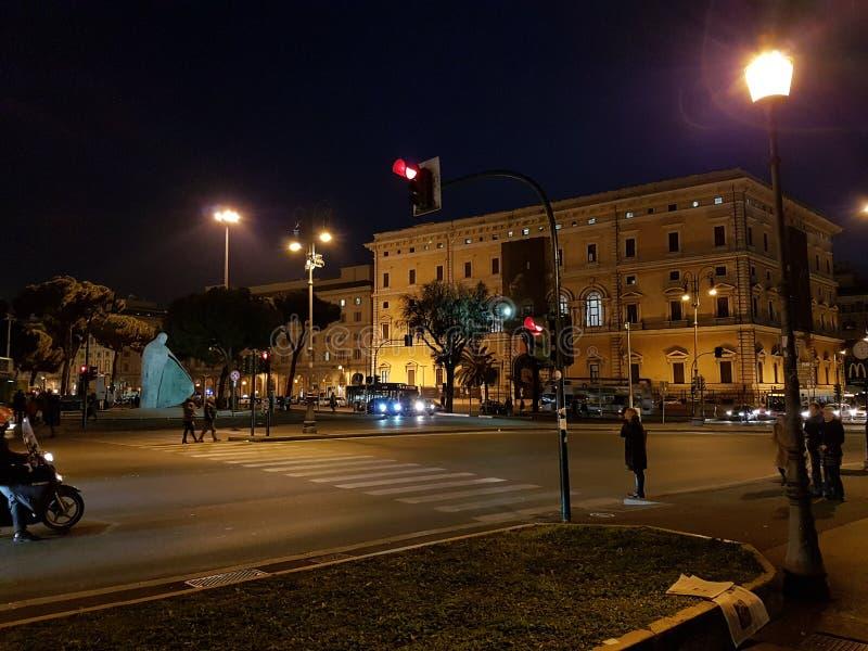 Natten av en trevliga Rome arkivbild