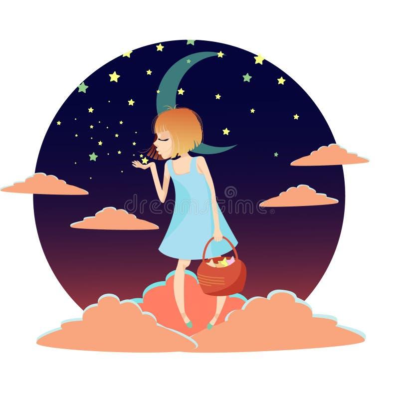 Natten har kommit vektor illustrationer
