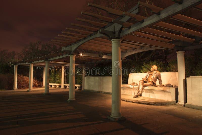 Natten landskap minnes- WaysidesDC royaltyfri foto