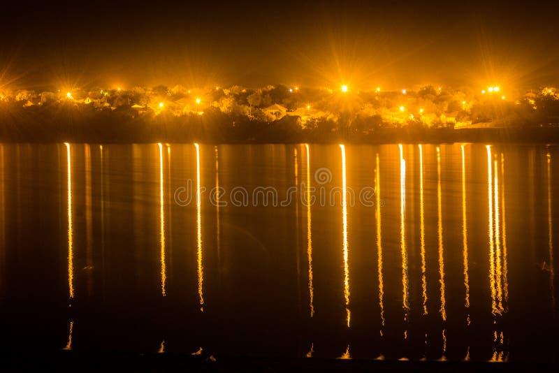 Nattens skönhet och lång exponering royaltyfria bilder