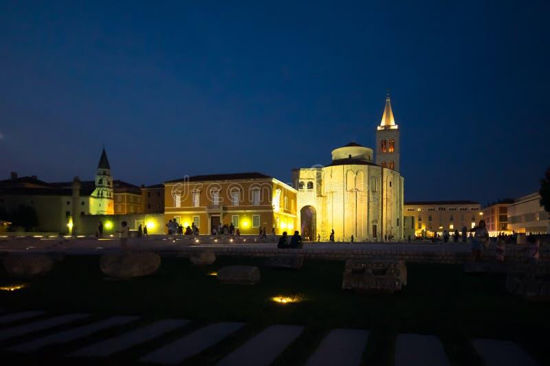 nattens Zadar arkivfoton