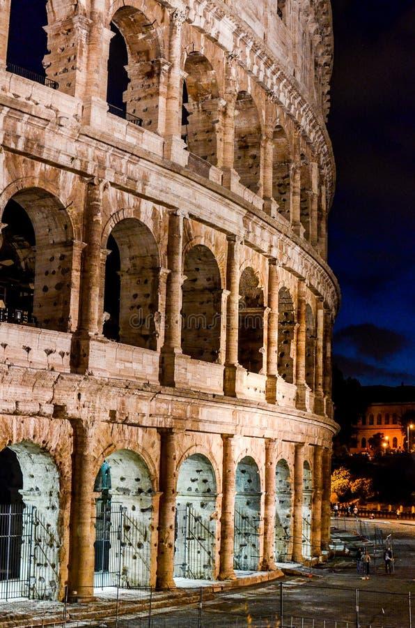 Nattetid Colosseum 4 royaltyfria foton