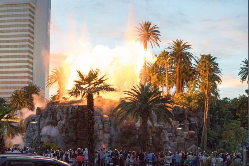 Nattetid i det Venetian i Las Vegas arkivfoton