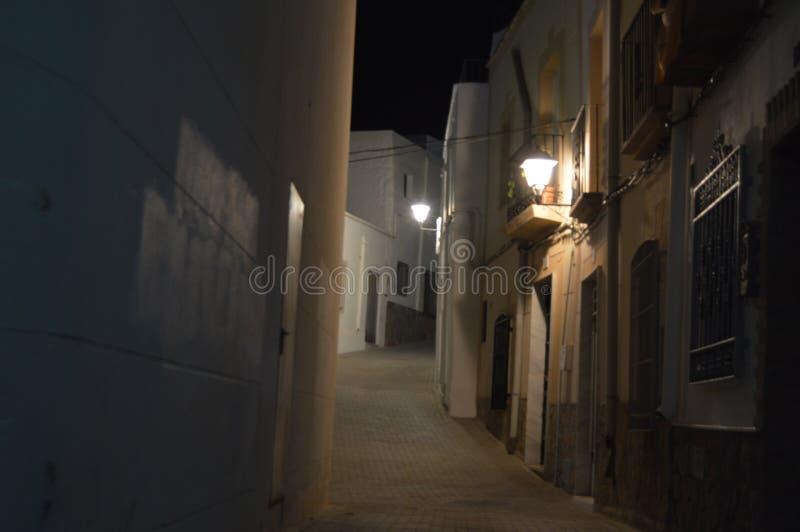 Nattgatan royaltyfri bild