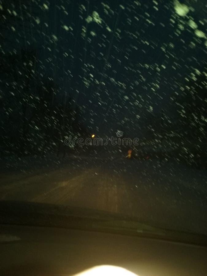 Nattglasyr på kaka fotografering för bildbyråer