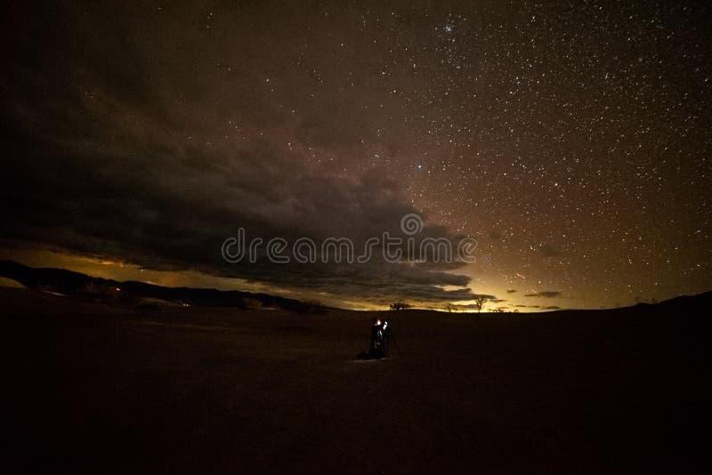 Natthimlar på Joshua Tree, Death Valley och lilla Tujunga royaltyfria bilder
