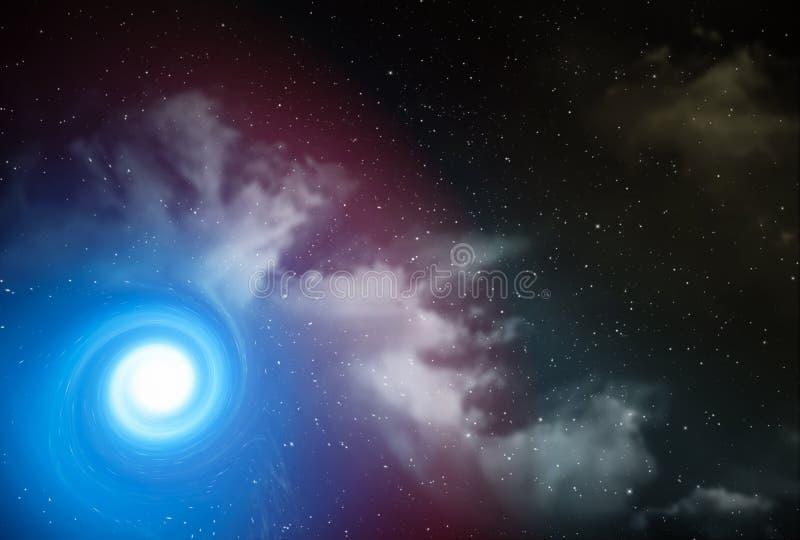 Natthimmel med massor av stjärnor arkivfoto