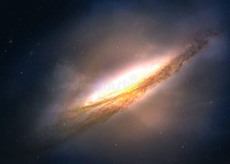 Natthimmel med massor av stjärnor stock illustrationer