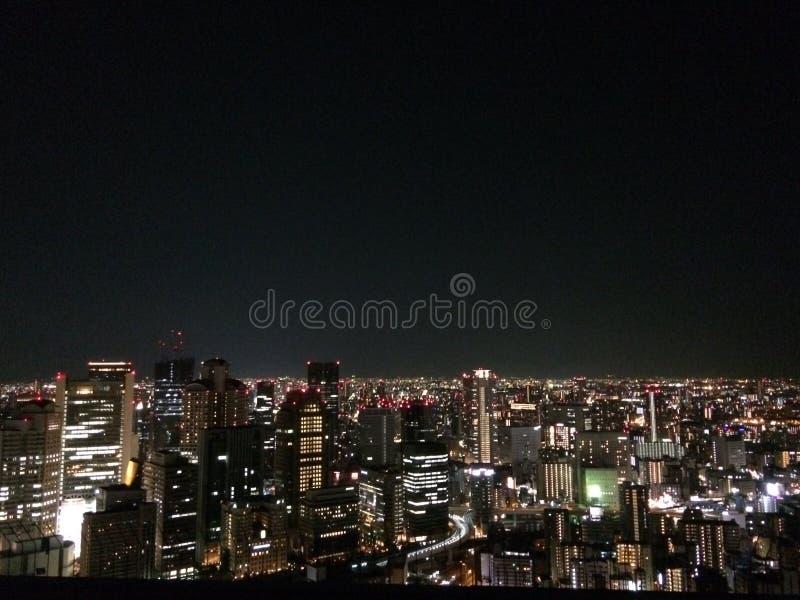 Natthimmel Osaka Kansai Japan Travel fotografering för bildbyråer