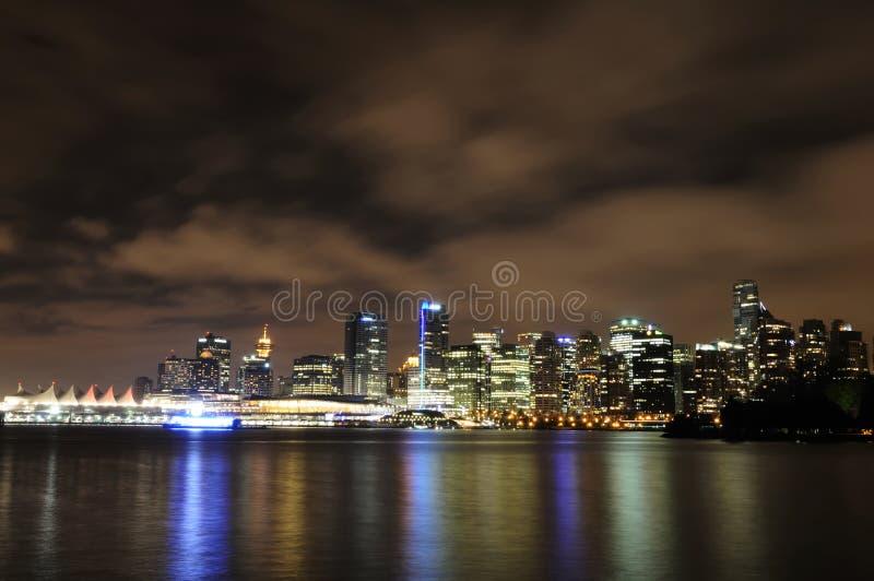 natthorisont vancouver fotografering för bildbyråer