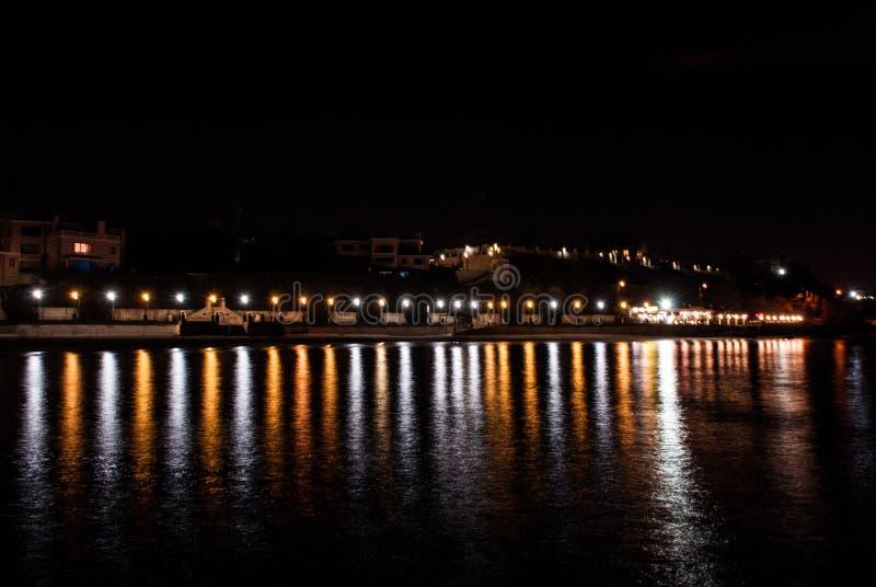 Nattkaj fotografering för bildbyråer