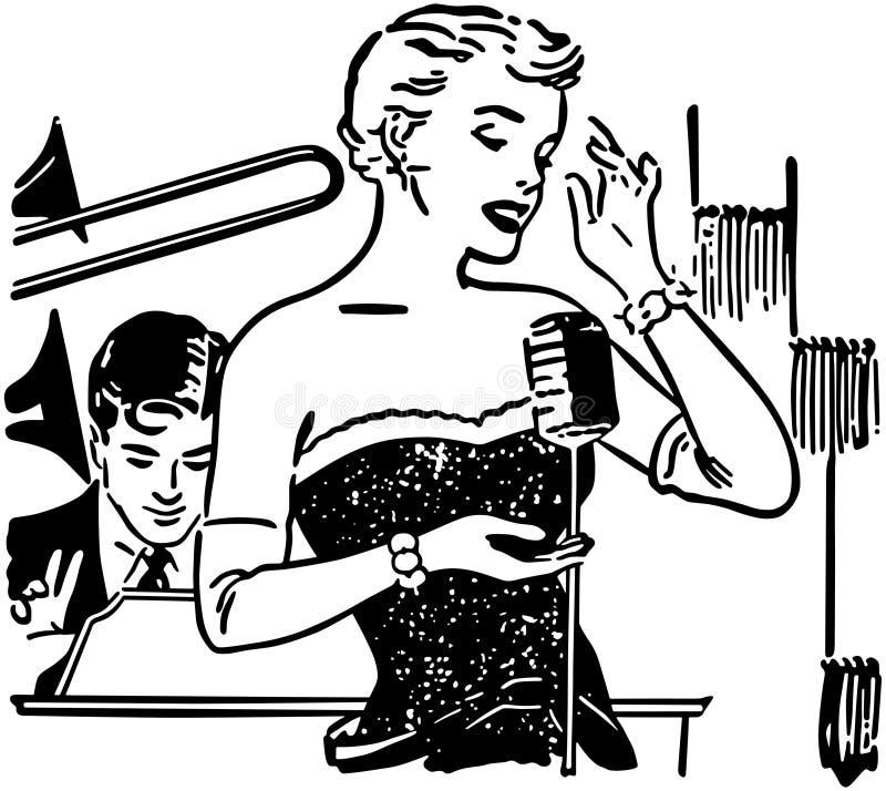 Nattklubbsångare stock illustrationer