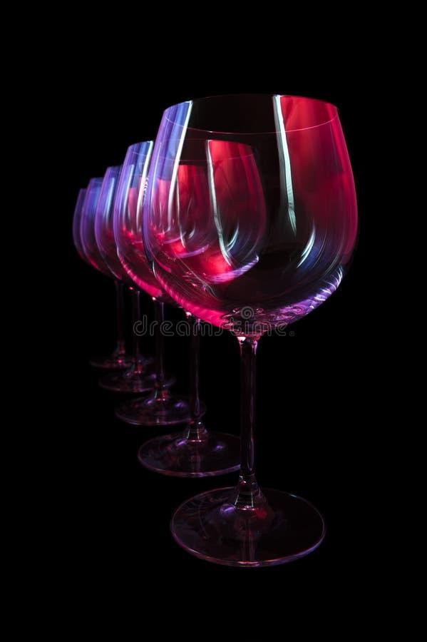 Nattklubbvinexponeringsglas royaltyfria foton