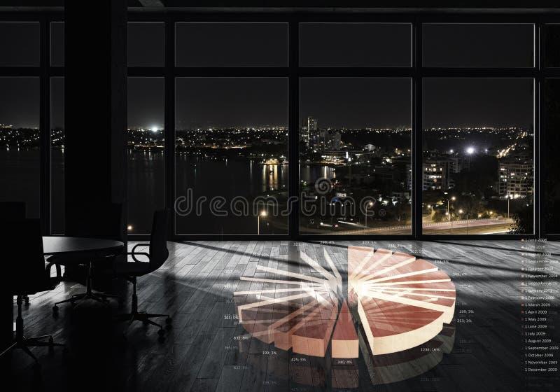 Nattkontorsinre Blandat massmedia fotografering för bildbyråer