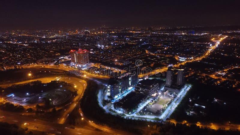 Nattljus i kl arkivbild