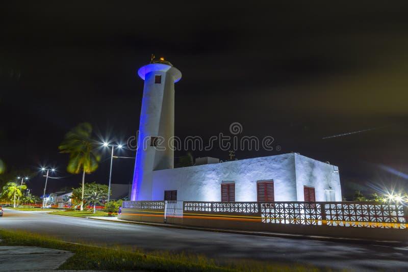 Nattljuset, Chetumal, Quintana Roo, Mexico royaltyfri fotografi
