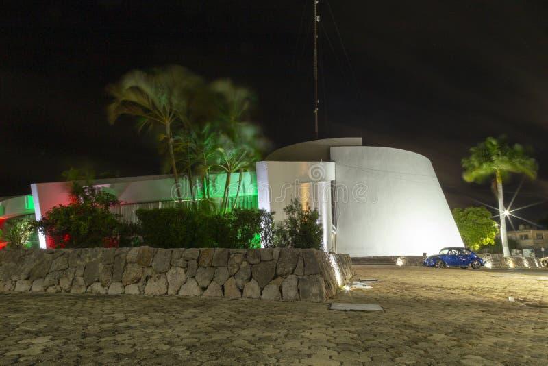 Nattljuset, Chetumal, Quintana Roo, Mexico fotografering för bildbyråer