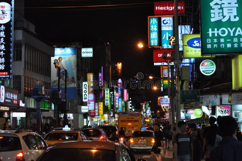 Nattmarknader, är unika och verkliga! royaltyfri fotografi