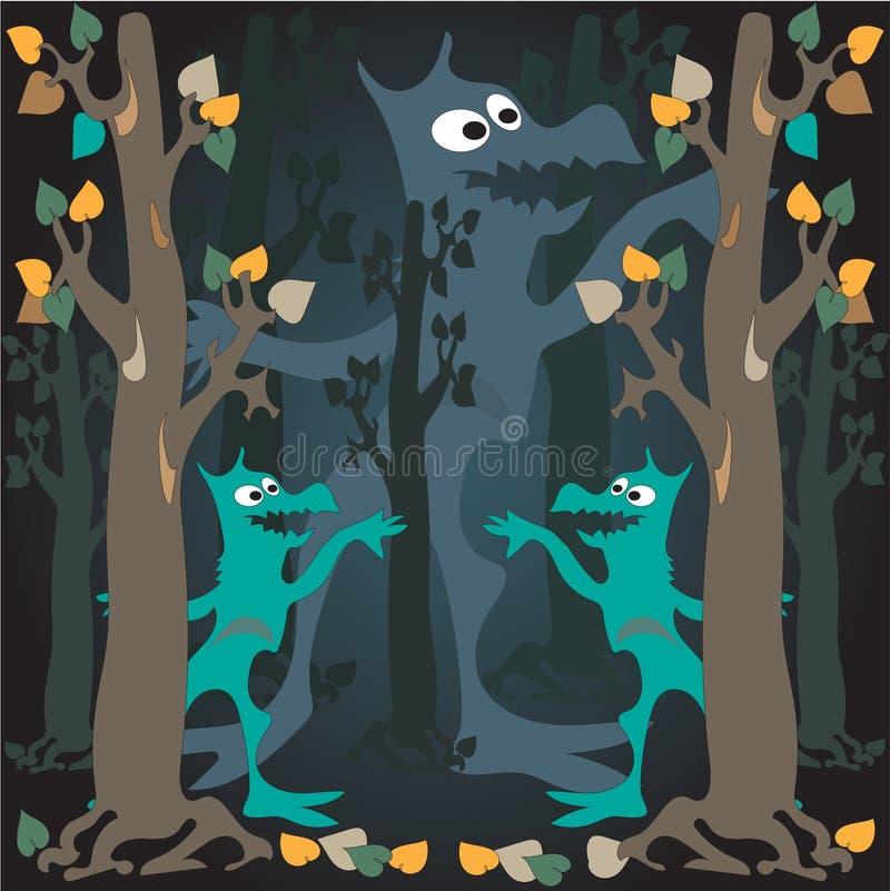 Nattmonster royaltyfri illustrationer