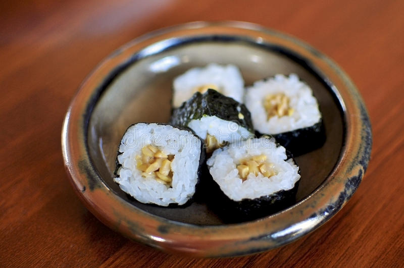 Download Natto Maki stock image. Image of typical, rolls, filled - 18570421