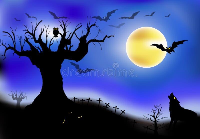 Nattplats royaltyfri illustrationer