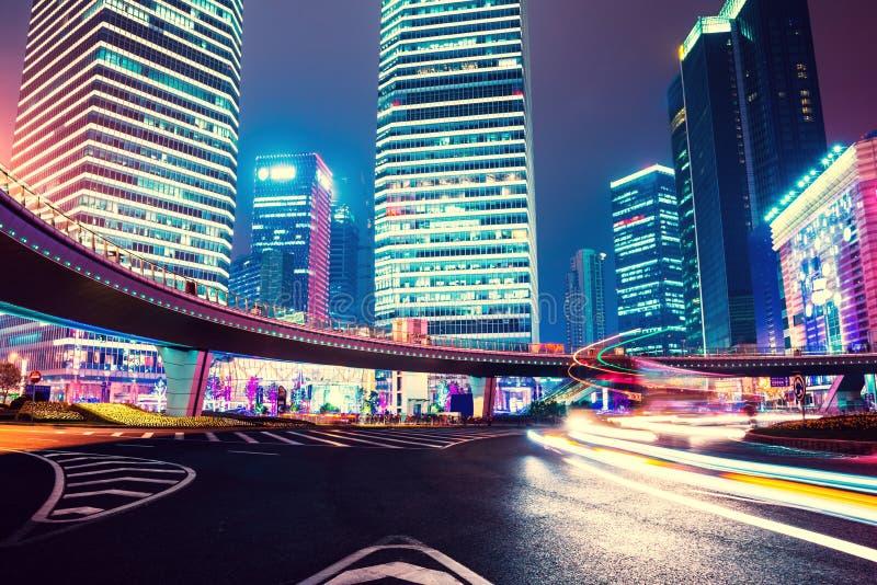 Nattplats av den moderna staden fotografering för bildbyråer