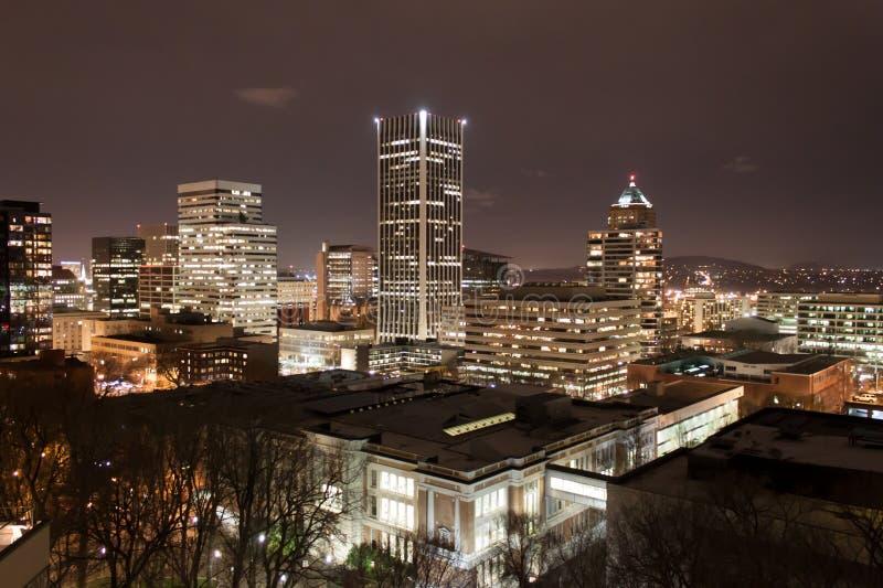 nattportland horisont fotografering för bildbyråer