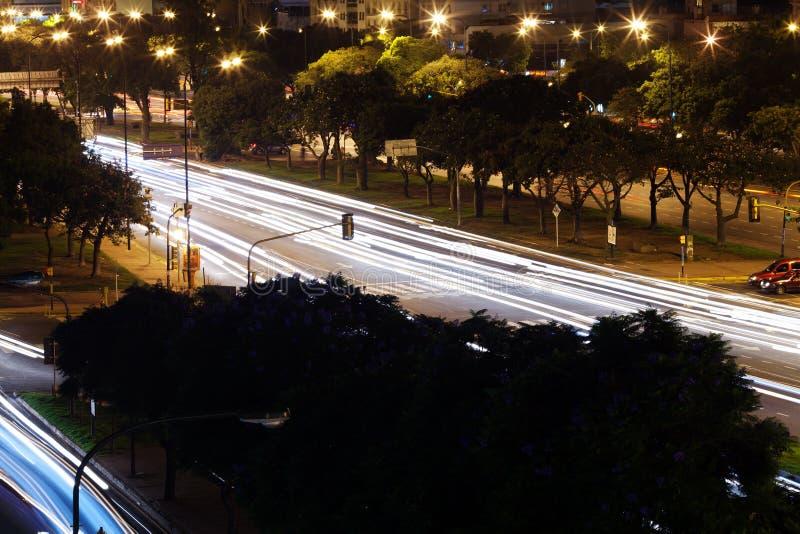 Nattsikt av Buenos Aires royaltyfria foton
