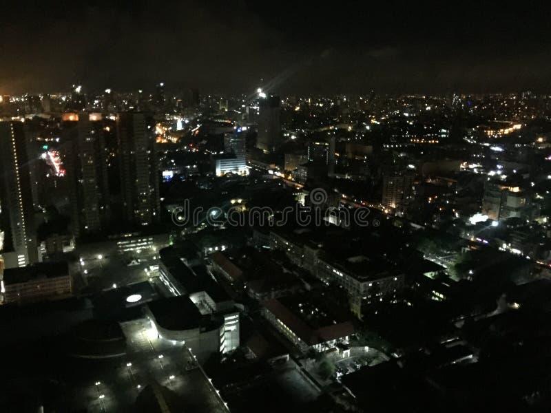 Nattsikt av Manila& x27; s arkivbild