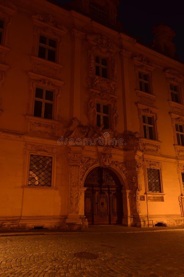 Nattsikt i Bamberg, Tyskland royaltyfria foton