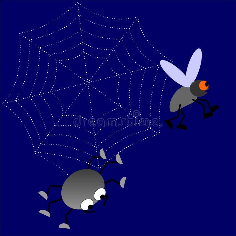 nattspindel vektor illustrationer