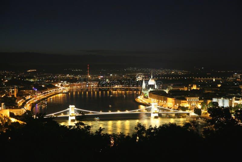 Nattstad royaltyfria bilder