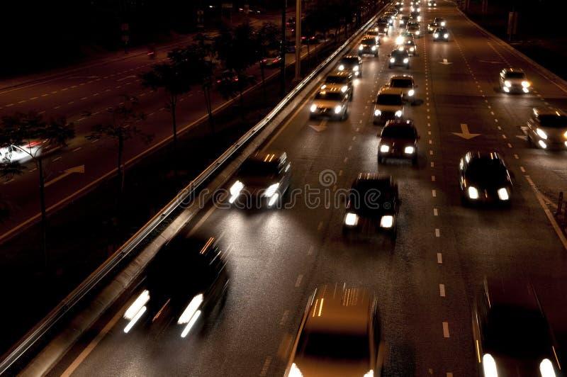 Nattstadsplats, på vägen arkivbilder