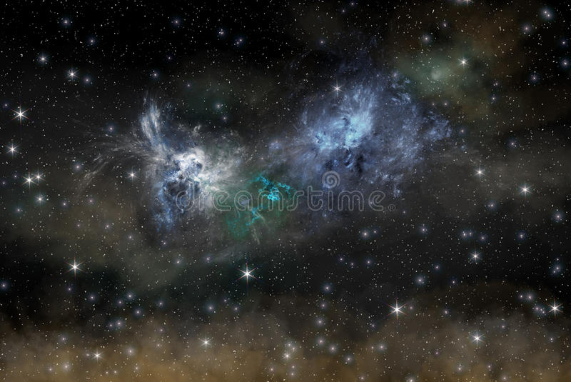 Nattstjärnahimmel arkivbild