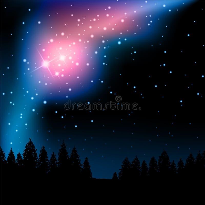 nattstjärnor vektor illustrationer