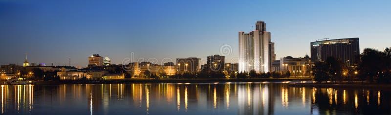 NattYekaterinburg stad, Ryssland royaltyfri fotografi