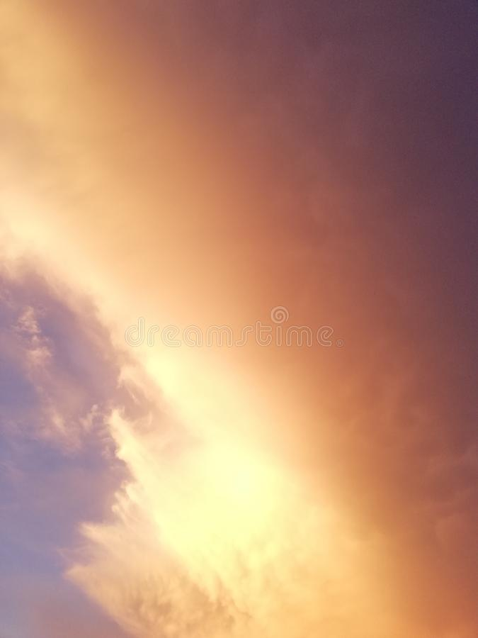 Sunset sky stock images
