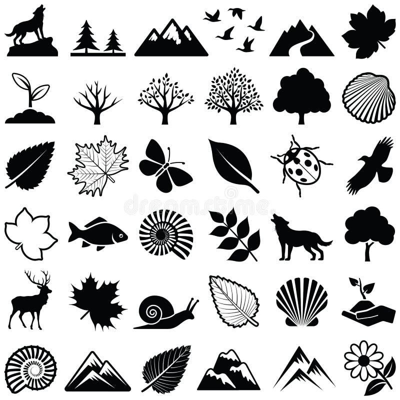 Natur vektor illustrationer